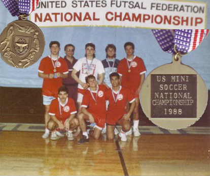 1988 USA FUTSAL FEDERATION CHAMPIONS U-19 BOYS