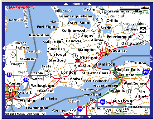 Ontario Futsal Association Maps Southwestern Ontario
